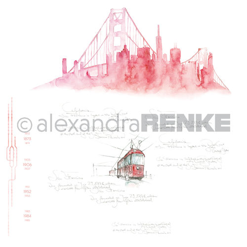 Designpapier 'Skyline SanFrancisco'